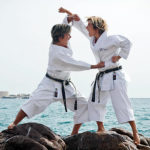 Karate au bord de la mer