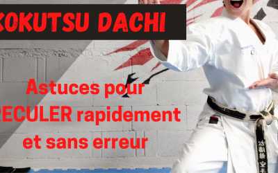 Le KOKUTSU DACHI : Comment reculer en kokutsu dachi ?